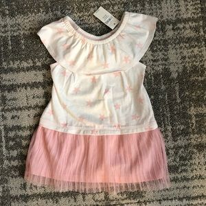 NWT Gap girls stars and pleats dress 12-18M